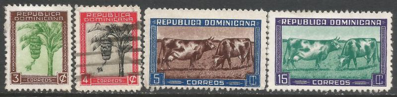 DOMINICAN REPUBLIC 389-92 VFU Z4332