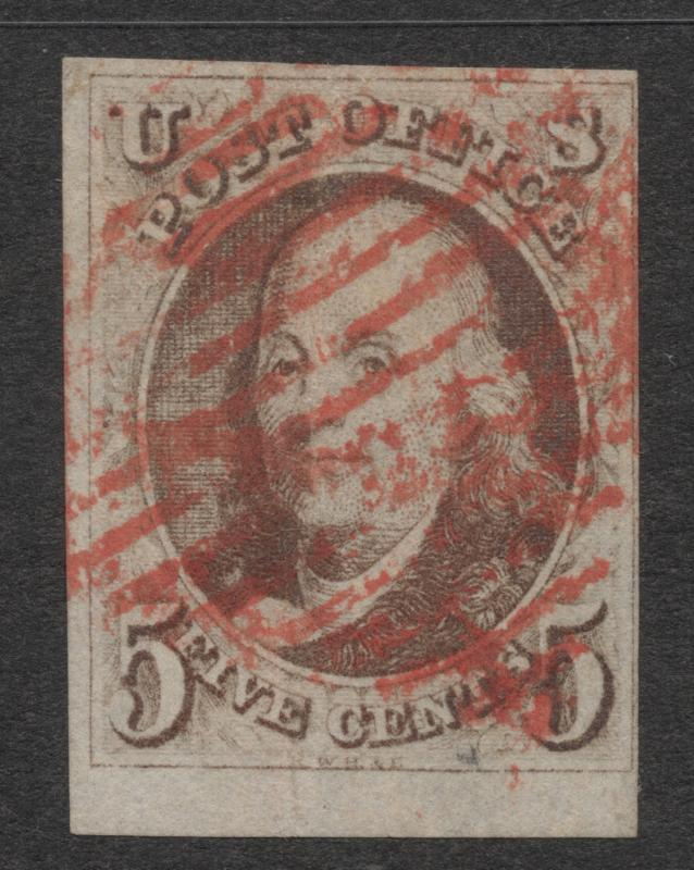 US#1 Red Brown - Red Grid Cancel
