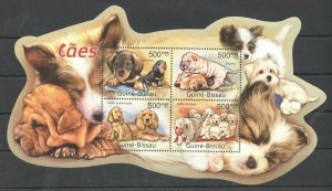 BC654 2011 GUINEA-BISSAU FAUNA PETS DOGS CAES KB MNH