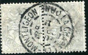 FRANCE #109 , USED PAIR - 1900 - FRAN140NS9