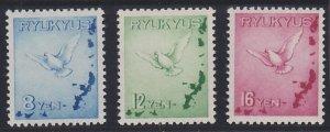 Ryukyu Islands C1-C3 MNH (1950)