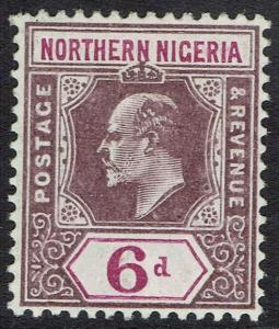 NORTHERN NIGERIA 1905 KEVII 6D WMK MULTI CROWN CA