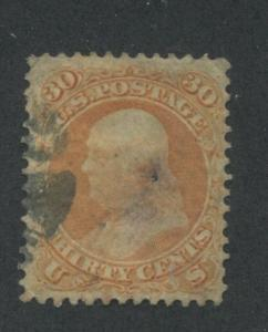 1861 US Stamp #71 30c Used Canceled F/VF Catalogue Value $200
