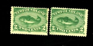 Newfoundland #47 (2) MINT F-VF No Gum Cat $175