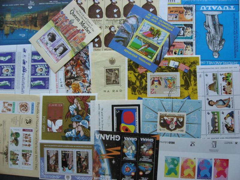 SOUVENIR SHEETS wee hoard 17 better all different worldwide