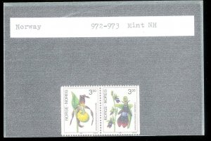 NORWAY Sc#972-973 MINT NEVER HINGED Partial Set