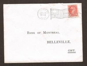 Canada Sc 37 on 1897 cover, Fancy Flag die B Cancel