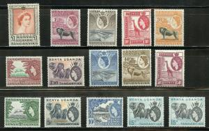 KENYA  UGANDA TANGANYIKA  ANIMALS  SCOTT#103/17    MINT NH--SCOTT VALUE $121.25
