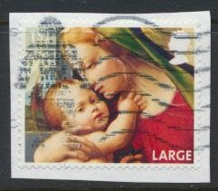 GB SG 3546  SC# 3238e Christmas 2013  1st Class  Large Used on piece