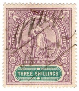 (I.B) Cape of Good Hope Revenue : Stamp Duty 3/-
