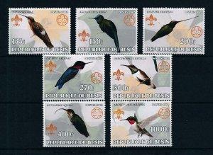 [105346] Benin private issue 2002 Birds vögel oiseaux kolibri scouting  MNH