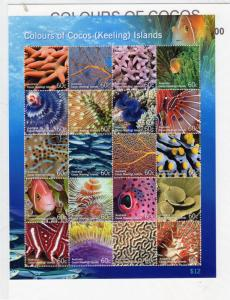 Cocos Island 2011 Colours of Cocos  Sheetlet MNH