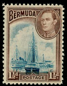BERMUDA SG111, 1½d deep blue & purple-brown, LH MINT. Cat £11.