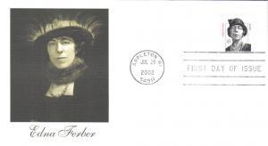 #3433 Edna Ferber Fleetwood FDC