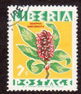 Liberia 351 - CTO - Gomphia subcordata (Flower) (cv $0.30)