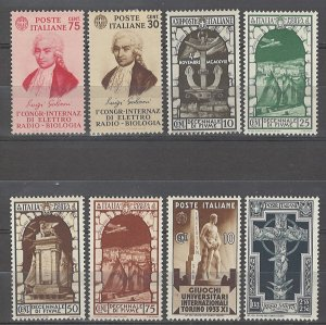 COLLECTION LOT # 4982 ITALY 8 MH STAMPS 1933+ CV+$22