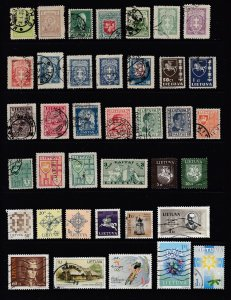 LITHUANIA - 52 Different - Used - All Eras