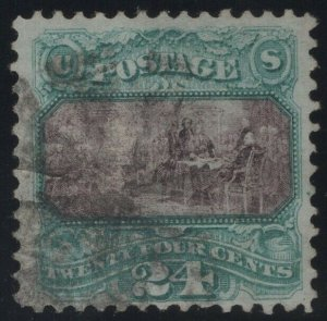 #120 Used, F-VF, With PSE Cert., SMQ $350. (GP2 11/14/19)