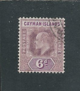 CAYMAN IS 1907-09 6d DULL PURPLE & VIOLET-PURPLE FU SG 30 CAT £35