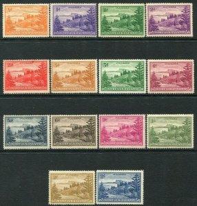 NORFOLK ISLAND-1947-59 Set to 2/- Sg 1-12a MOUNTED MINT V34502