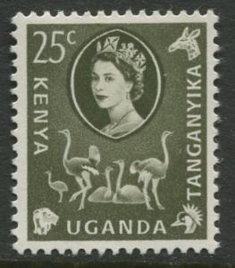 Kenya Uganda - Scott 124 - QEII Definitive -1960 - MLH - Single 25c Stamp
