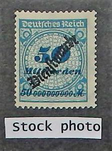 Germany O46. 1923 50 mird M Blue and deep blue, NH