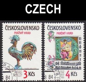 Czechoslovakia Scott 2518-19 complete set VF CTO.