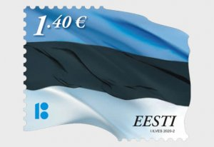 Estonia 2020 Estonian Flag €1.40 Re-Print - Set MNH**