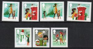 Great Britain Sc 3337-43 2014 Christmas  stamp set mint NH