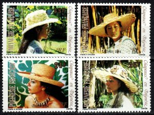 French Polynesia #393-6  MNH CV $2.65  (X1417)