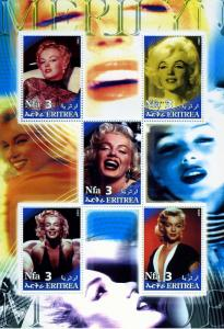Eritrea 2002 Marilyn Monroe Sheet  Perforated mnh.vf