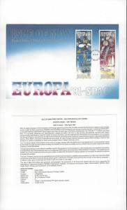 Isle of Man 468-71 Europa 91 Space 1991  Official FDC