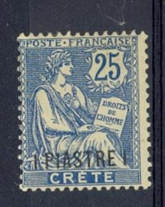 French Offices in Crete Scott 16 Mint NH (Maury CV 115 Euros)