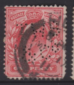 Great Britain Sc#128 Used - Perfin TWS & Co