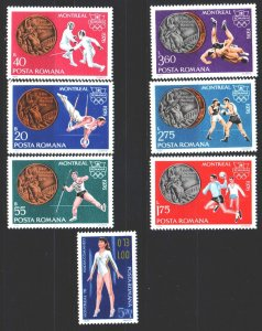 Romania. 1976. 3372-78. Montreal, summer olympic games. MNH.
