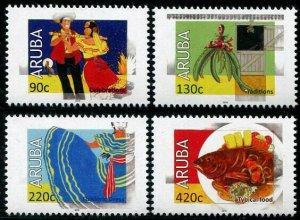 HERRICKSTAMP NEW ISSUES ARUBA Sc.# 599-602 Cultural Stamps 2018