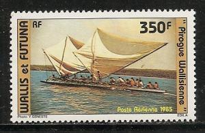 Wallis and Futuna Islands C142 1985 Canoe single MNH