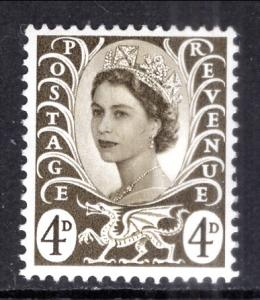 Great Britain Wales and Monmouthshire 9 MNH VF