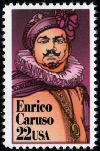 SC#2250 22¢ Enrico Caruso Single (1987) MNH