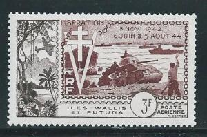 Wallis and Futuna Islands C11 1954 10th Liberation single MNH