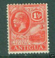 ANTIGUA Scott 46 wmk 4 1921 George V CV $5.75 MH*