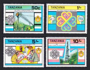Tanzania World Communications Year 4v SG#385-388 SC#229-232