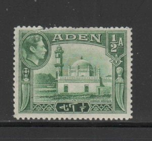 ADEN #16  1942  1/2a AIDRUS MOSQUE   MINT VF LH  O.G