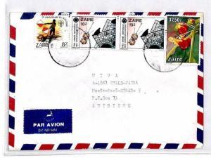 CM343 *ZAIRE* Missionary Air Mail MIVA Austria Cover