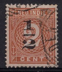 Netherlands Indies  #46  1902  used surcharge 1/2ct  on 2ct  numbers