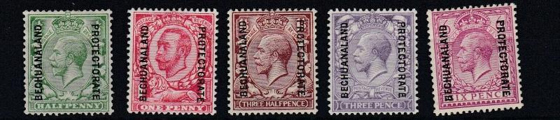 BECHUANALAND 1913 - 24      S G  73 - 81    VARIOUS VALUES TO 6D    MH