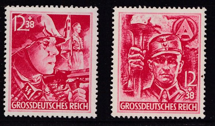 Germany 1945 Semi-Postals Complete (2) VF+/NH(**)  Storm Troopers