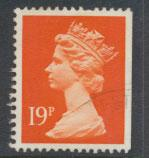 GB Machin 19p  SG X956  Scott MH106 Used ex booklet   please read details