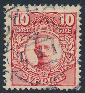 Sweden Scott 71 (Fa 76), 10ö Gustav V wmk Crown, F+ Used