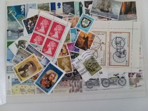 Lot Great Britain 100 diff. stamps